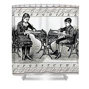 Penmanship Shower Curtain by Daniel Hagerman