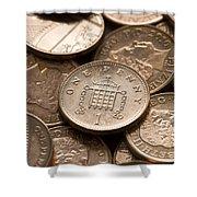 Pennies Sterling Full Frame Shower Curtain
