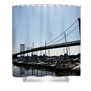 Penns Landing Marina Shower Curtain
