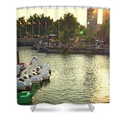 Penns Landing Rays Shower Curtain