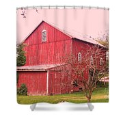 Pennsylvania Barn  Cira 1700 Shower Curtain