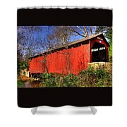 Pennsylvania Country Roads - Wagoners Covered Bridge Over Bixlers Run - Perry County Shower Curtain
