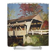 Pennsylvania Covered Bridge Shower Curtain
