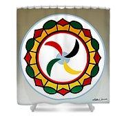 Pennsylvania Dutch Hex 17 Shower Curtain