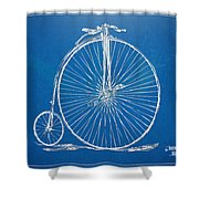 Penny-farthing 1867 High Wheeler Bicycle Blueprint Shower Curtain