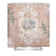 Penny Postcard Passionate Shower Curtain