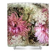 Penny Postcard Pearlescent Shower Curtain