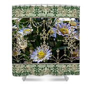 Penny Postcard Rococo Shower Curtain
