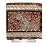 Penny Postcard Sophisticated Shower Curtain