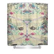 Penny Postcard Teahouse Shower Curtain