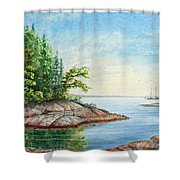 Penobscot Inlet Shower Curtain