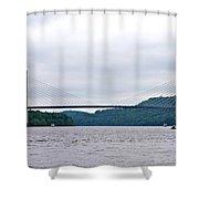 Penobscot Narrows Bridge Shower Curtain