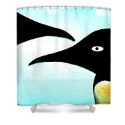 Penquin Love Shower Curtain by Colette V Hera  Guggenheim