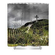 Pensacola Beach Cross Shower Curtain