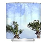 Pensacola Palms Shower Curtain