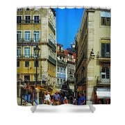 Pensao Geres - Lisbon 2 Shower Curtain by Mary Machare