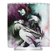 Pensive With Texture Shower Curtain