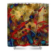 Penstemon Abstract 2 Shower Curtain