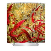 Penstemon Abstract 4 Shower Curtain