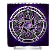 Pentacle Of The Purple Moon Shower Curtain