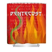 Pentecost Fires Shower Curtain
