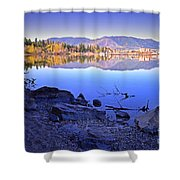 Penticton Reflections Shower Curtain