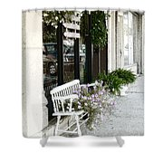 Pentunia Bench Shower Curtain