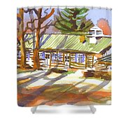 Penuel Lodge In Winter Sunlight Shower Curtain