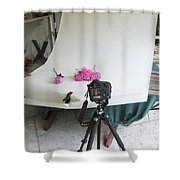 Peonies And Tripod Shower Curtain