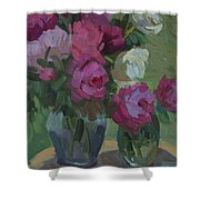 Peonies In The Shade Shower Curtain