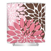 Peony Flowers 009 Shower Curtain