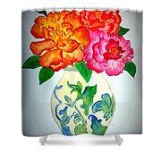 Peonys In Vase Shower Curtain