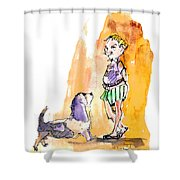 People And Their Dogs 01 Shower Curtain