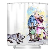 People And Their Dogs 02 Shower Curtain