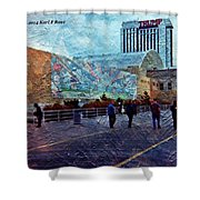 People As A Painting Shower Curtain