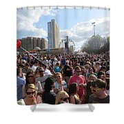 People As Far As The Eye Can See Shower Curtain