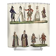 People From Europe Shower Curtain