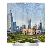 People Square In Shanghai Shower Curtain