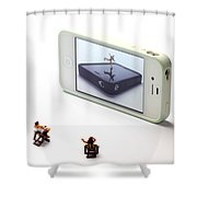 People Watching Ice Skating Live Shows II Shower Curtain