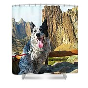 Pepper At Smith Rock Shower Curtain