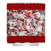 Peppermint Taffy Shower Curtain