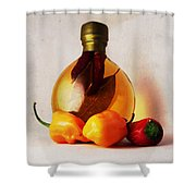 Peppers And Oil Shower Curtain