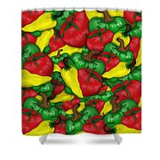Peppers And Tomatos Shower Curtain