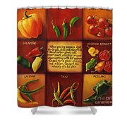 Pepper Facts  Shower Curtain