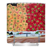 Peppers Red And Yellow Shower Curtain