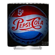 Pepsi Cap Sign Shower Curtain
