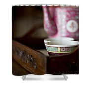 Peranakan Tea Set Shower Curtain