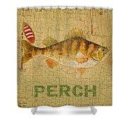 Perch On Burlap Shower Curtain