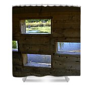 Perch Pond Blind Shower Curtain