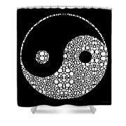 Perfect Balance 2 - Yin And Yang Stone Rock'd Art By Sharon Cummings Shower Curtain